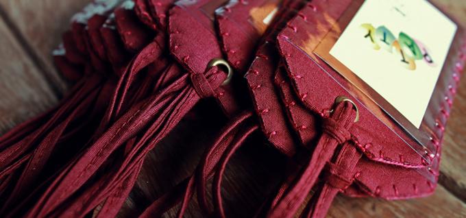 identificador de bagagem em tecido + feltro